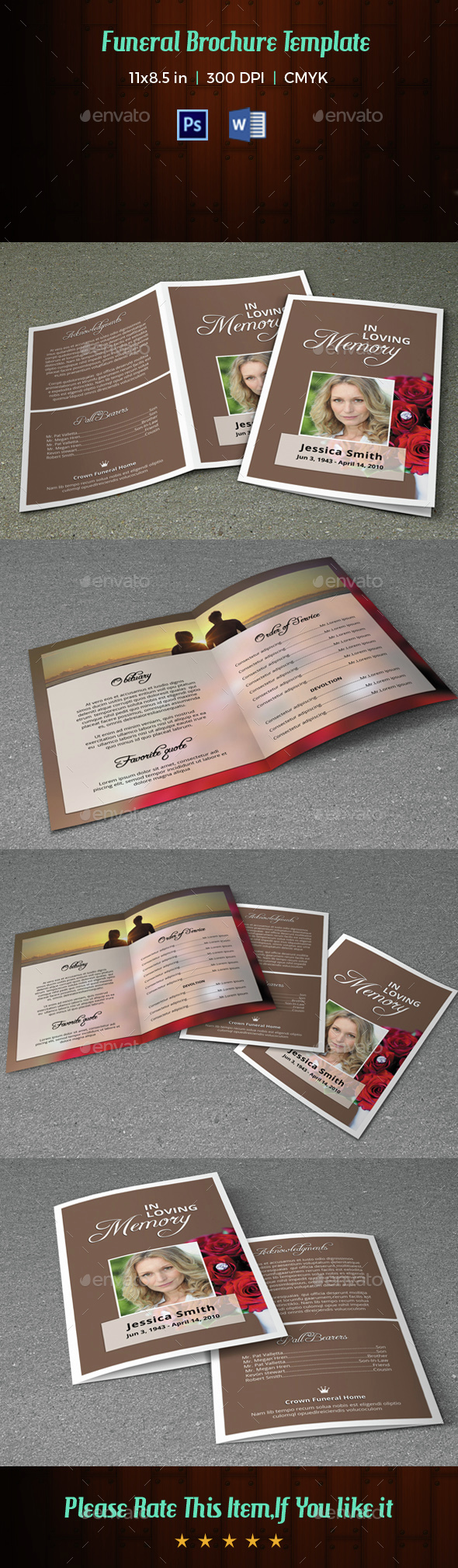 Funeral Program Template-V39 - Informational Brochures