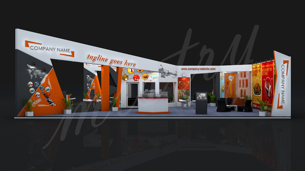 3d Exhibition Booth Design : Exhibition booth d model by mistry docean