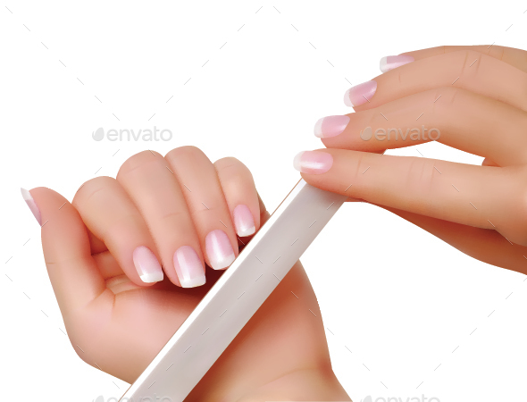 Female Hands With a Nailfile - People Characters