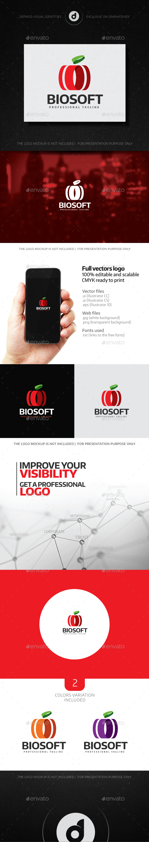 Biosoft Logo - Food Logo Templates