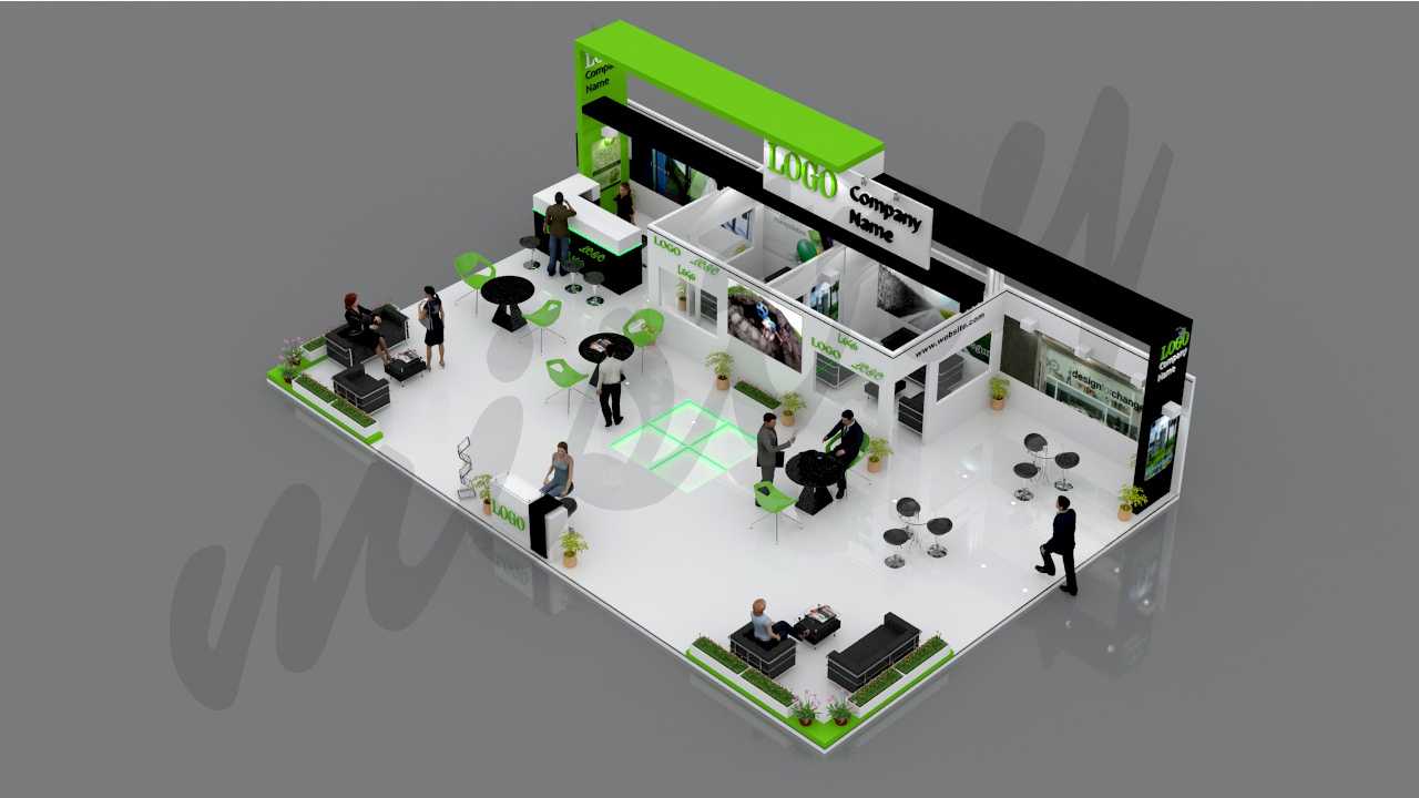 3d Exhibition Model : Exhibition booth d model by mistry docean