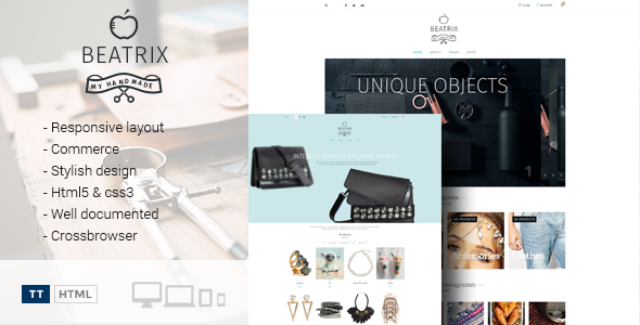 Beatrix – Handmade Shop Template - Retail Site Templates