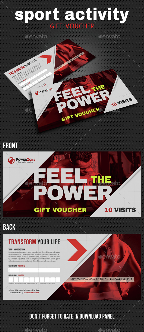 Sport Activity Gift Voucher 06 - Cards & Invites Print Templates