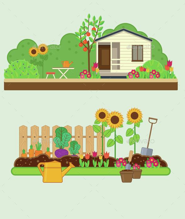 Gardening Set - Landscapes Nature
