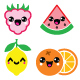 Kawaii Fruit and Nut Characters Design  - GraphicRiver Item for Sale