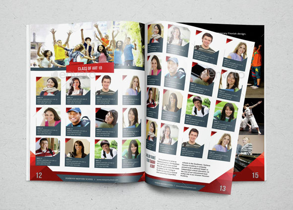 Yearbook template design vol 2 by hiro27 graphicriver for Free online yearbook templates