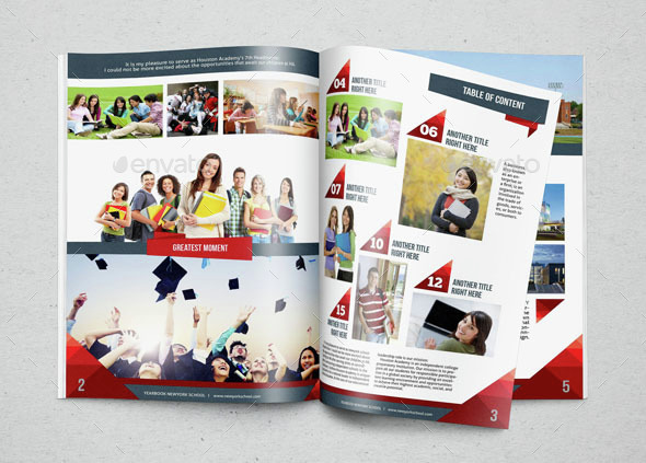 Yearbook Template Design Vol 2 by hiro27 | GraphicRiver