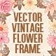 Vintage Party Flower Frame - GraphicRiver Item for Sale