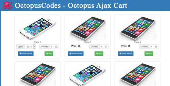 OctopusCodes - Octopus Ajax Cart - CodeCanyon Item for Sale
