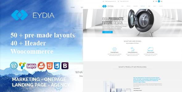 Eydia | Responsive Multi-Purpose WordPress Theme