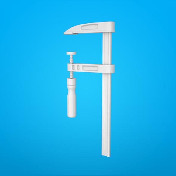 Screw clamp - 3DOcean Item for Sale