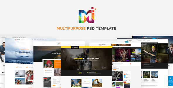 Mount - PSD Template - Corporate PSD Templates