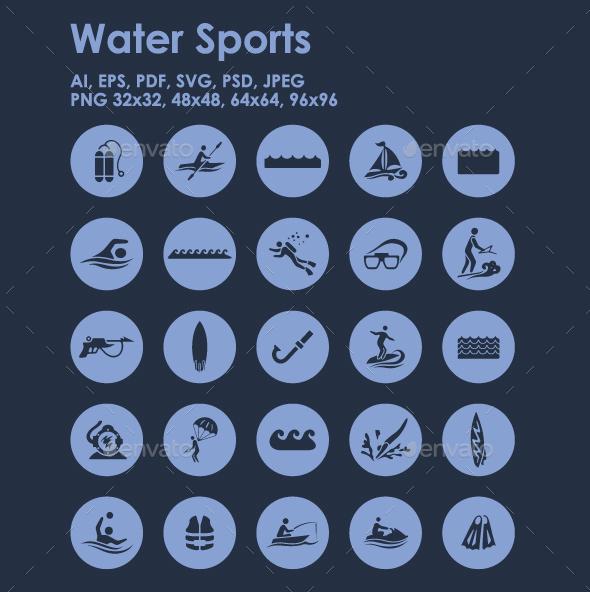 25 Water Sports icons - Seasonal Icons