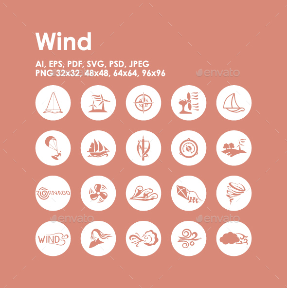 20 Wind icons - Seasonal Icons