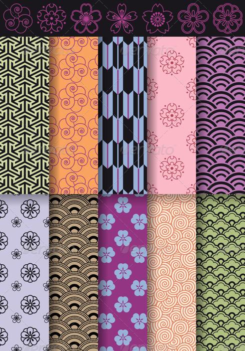 Seamless Asian Patterns - Patterns Decorative