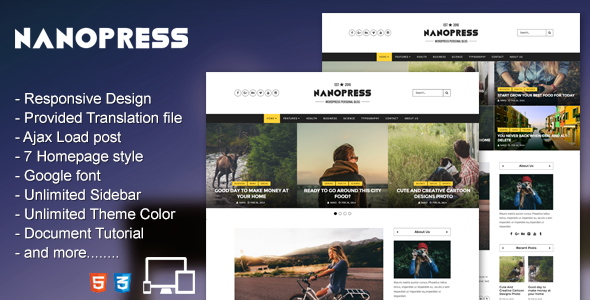 Nanopress – WordPress Responsive Blog & Magazine Theme