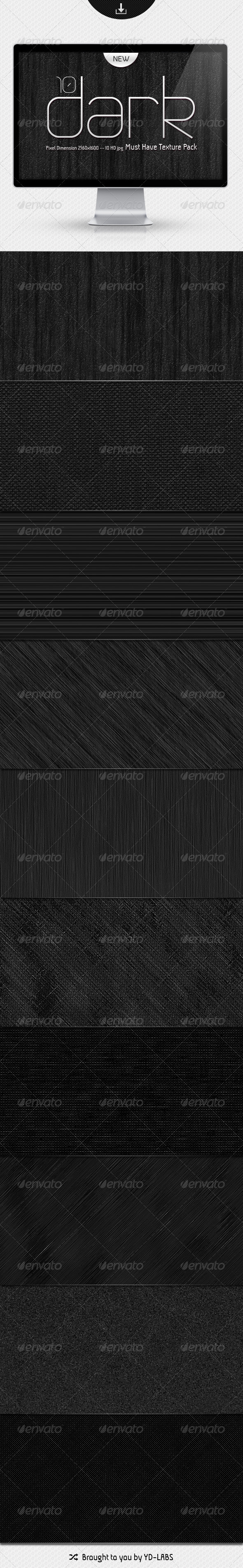 10 Dark Must Have Textures Pack - Patterns Backgrounds