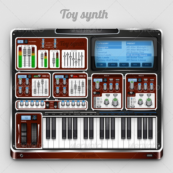 Toy Synth - User Interfaces Web Elements
