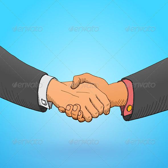 Handshake Illustration - Business Conceptual