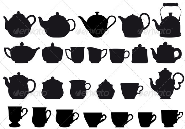 Coffe And Tea Set - Food Objects