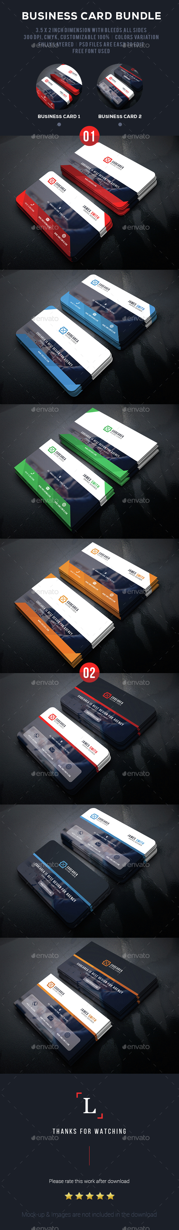 Soft Business Card Bundle - Business Cards Print Templates
