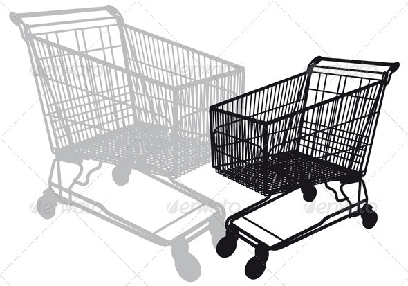 Vector Shopping Cart - Commercial / Shopping Conceptual