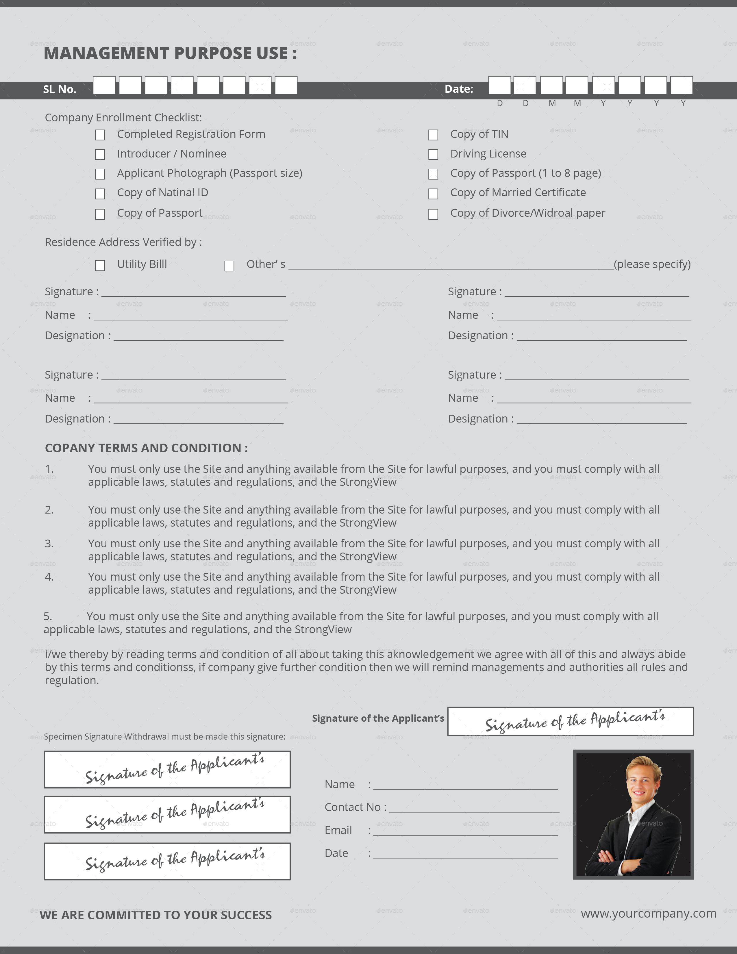 Registration Form by maislam | GraphicRiver