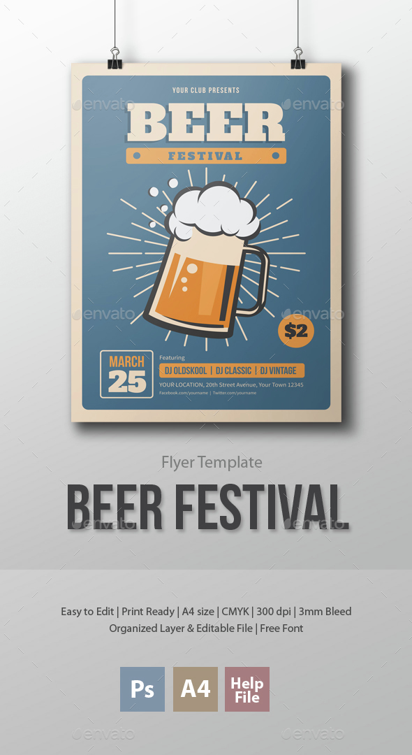 Beer Festival Flyer Template - Clubs & Parties Events
