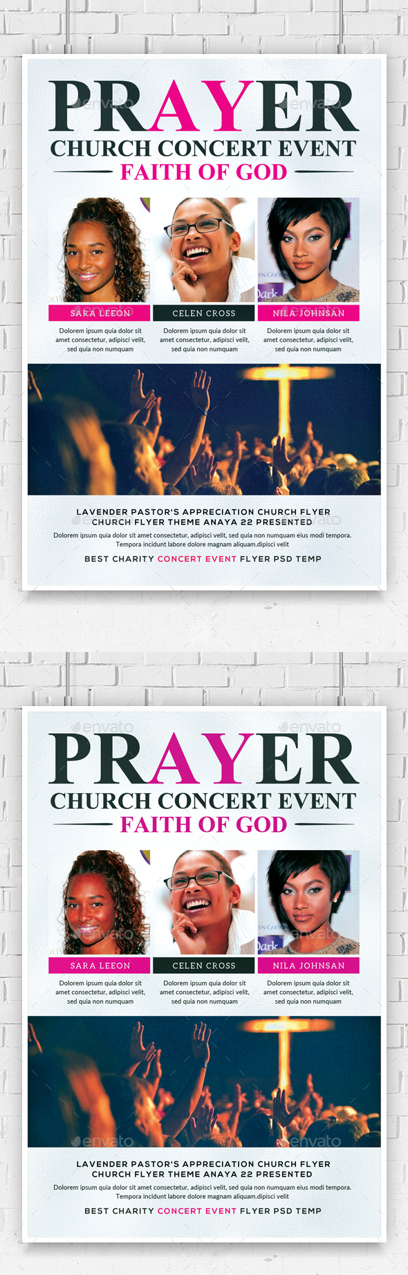 Faith and Prayer Church Flyer - Church Flyers
