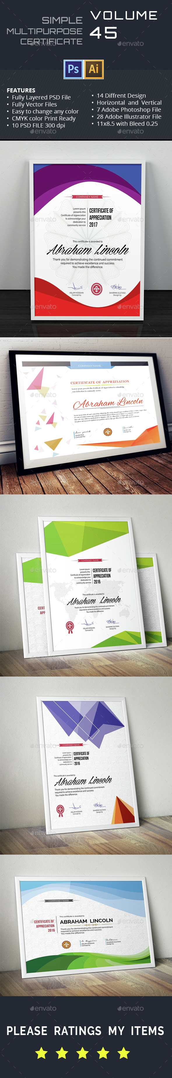 Multipurpose Certificate GD045 Bundle - Certificates Stationery