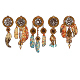 Set of 5 Colored Dream Catchers - GraphicRiver Item for Sale