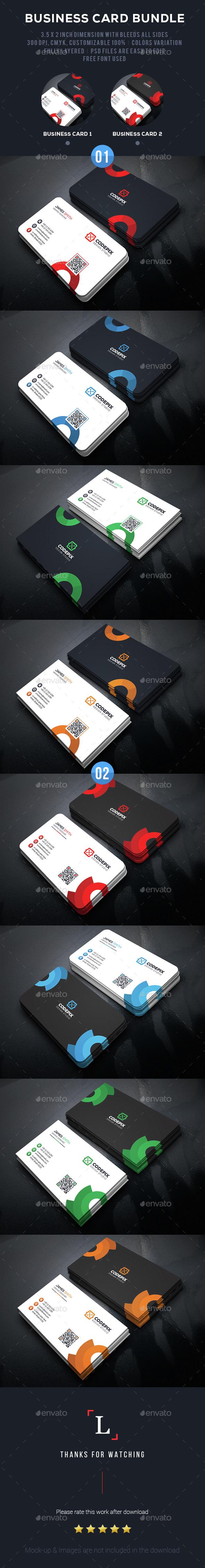 Circle Business Card Bundle - Business Cards Print Templates