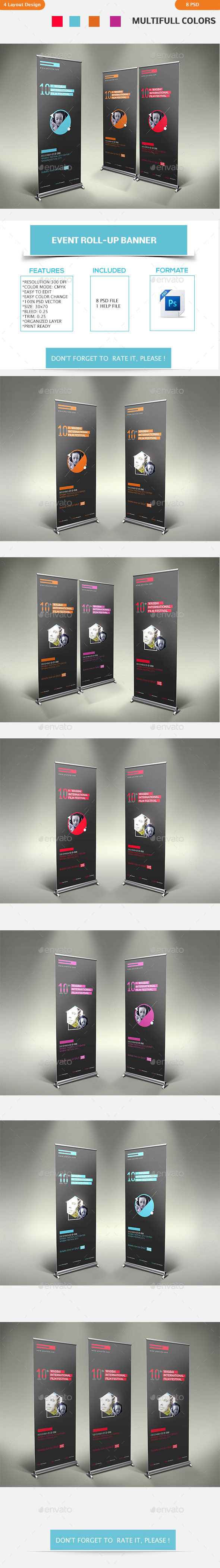 Event Roll-up Banner - Signage Print Templates