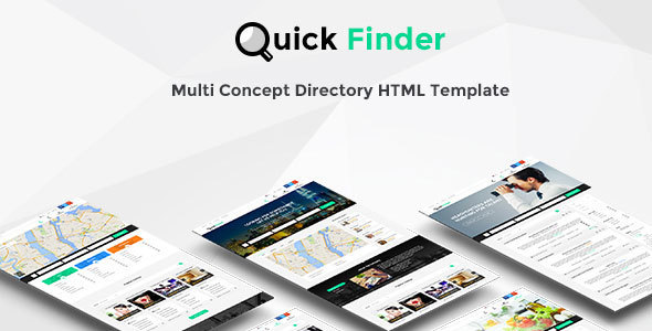 QuickFinder - Directory & Listings Template (Multi-Industry) - Corporate Site Templates