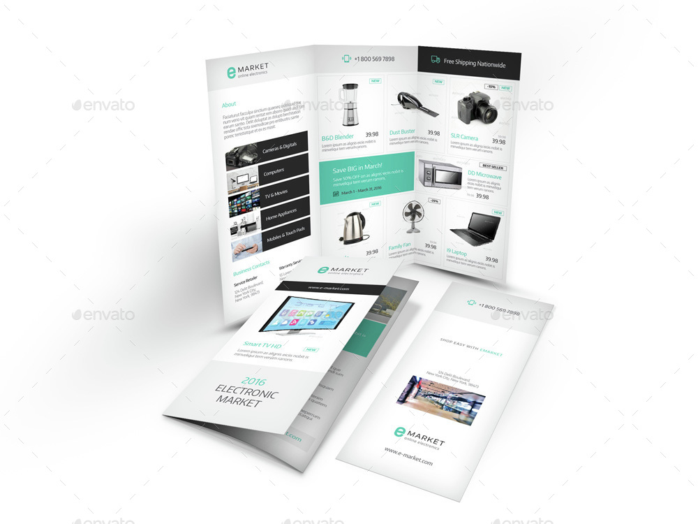 Electronic Store Trifold Brochure