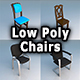 Chairs Low Poly - 3DOcean Item for Sale