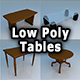 Tables Low Poly - 3DOcean Item for Sale