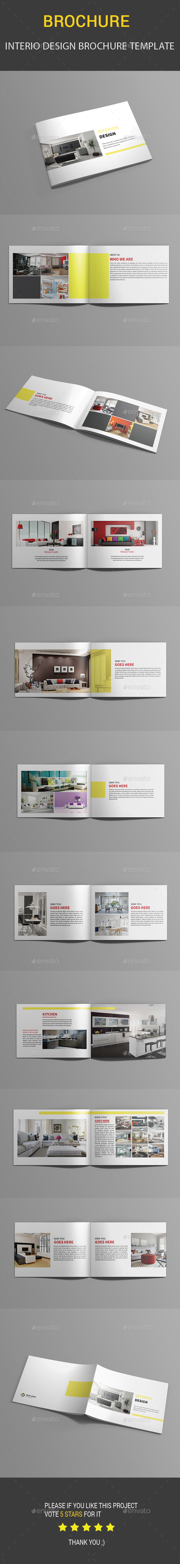 Interio Design Brochure Template - Catalogs Brochures