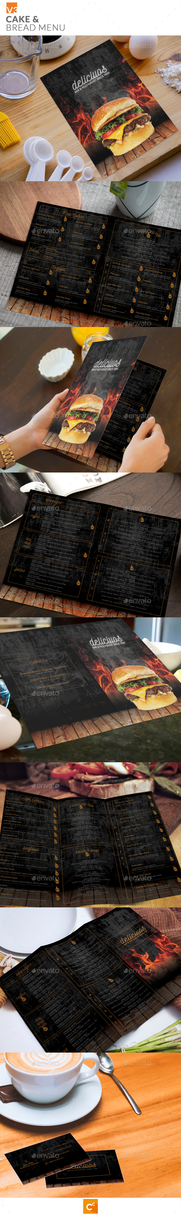 Restaurant Cafe & Bar Menu v3 - Food Menus Print Templates