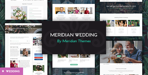 Meridian Wedding – A Beautiful Wedding WordPress Theme