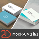 85x55 Business Card Mockup Bundle 2 in 1 - GraphicRiver Item for Sale