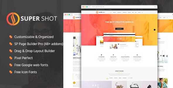 SuperShot - Creative Multi-Purpose Joomla Template - Joomla CMS Themes