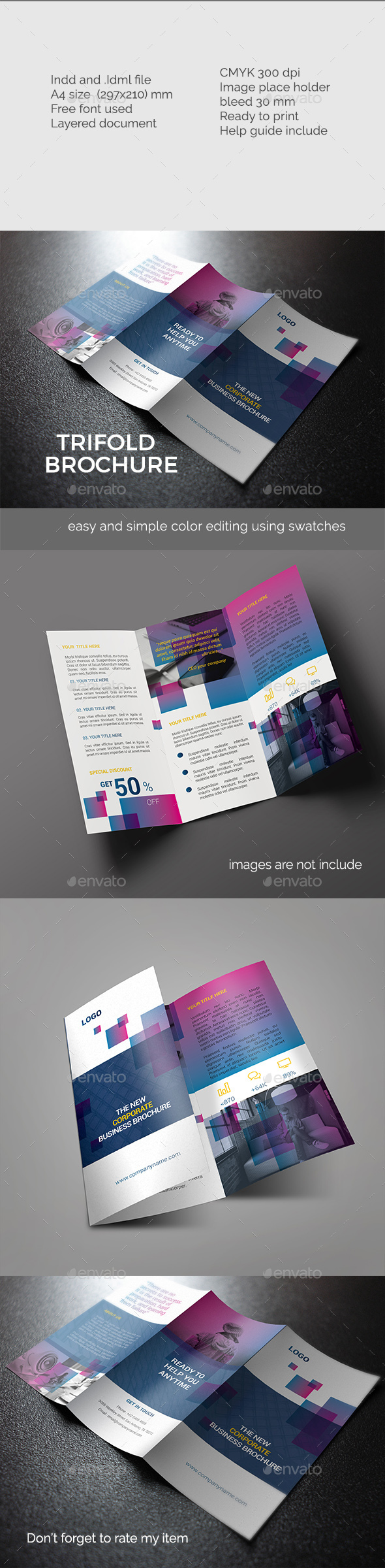 Elegant Trifold Brochure  - Corporate Brochures