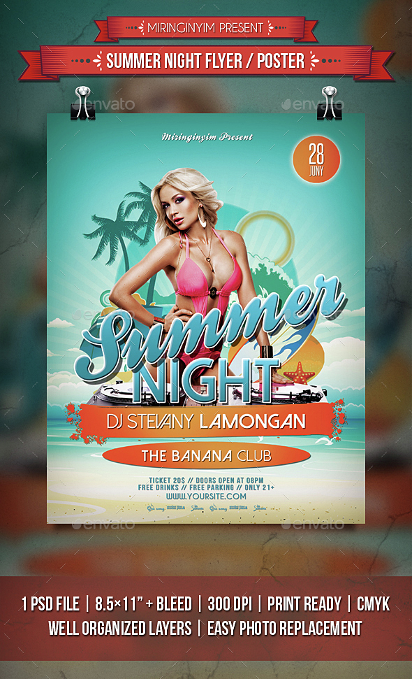 Summer Night Flyer / Poster - Events Flyers