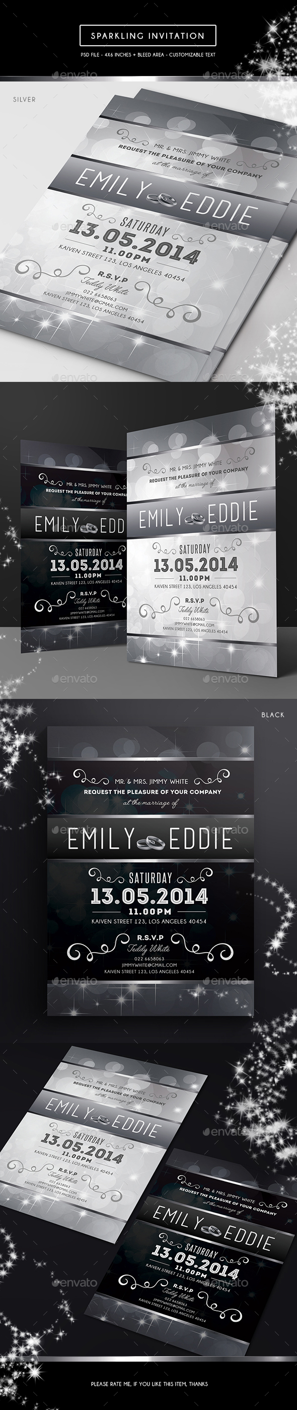 Sparkling Invitation - Weddings Cards & Invites