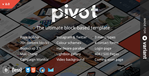 Pivot | Multi-Purpose HTML with Page Builder - Creative Site Templates