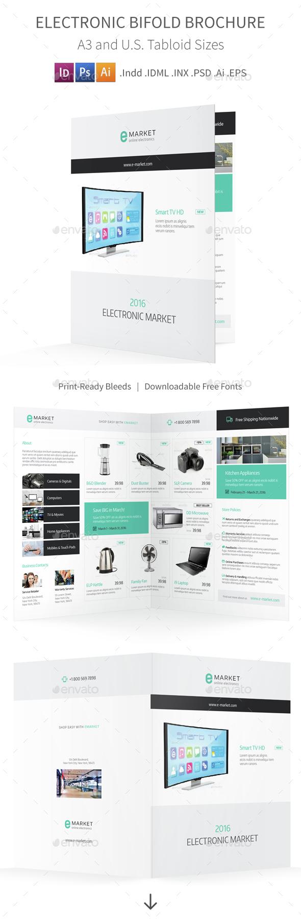 Electronic Bifold / Halffold Brochure - Informational Brochures