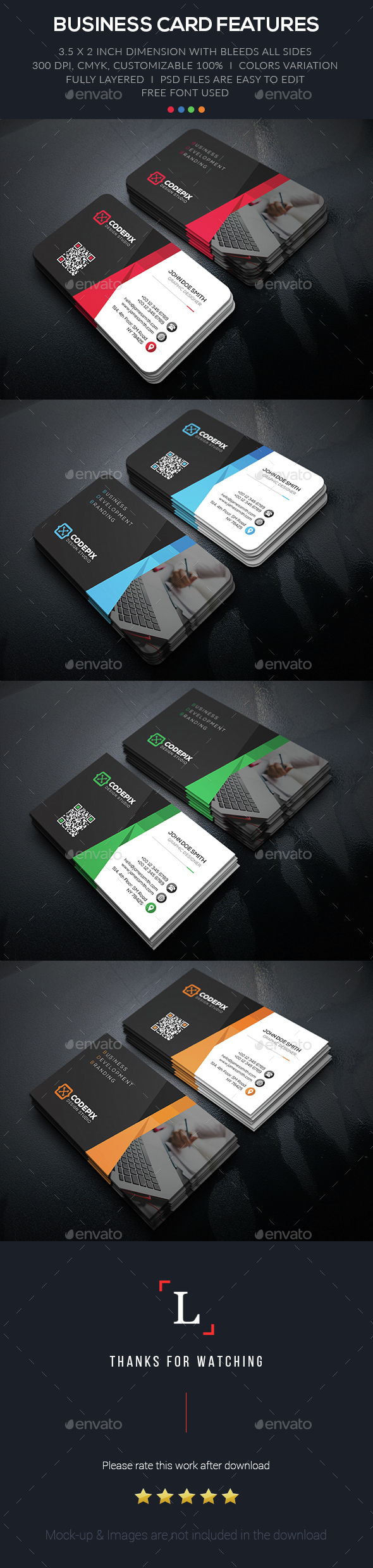 Branding Corporate Business Card - Business Cards Print Templates