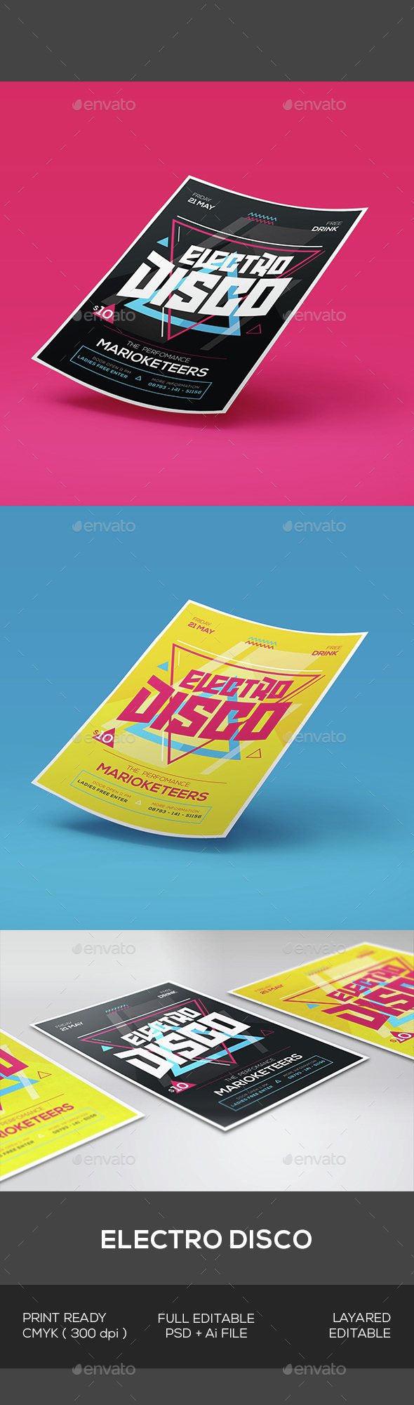 Electro Disco Flyer - Events Flyers
