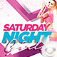 Flyer Saturday Girl Hot Party - GraphicRiver Item for Sale